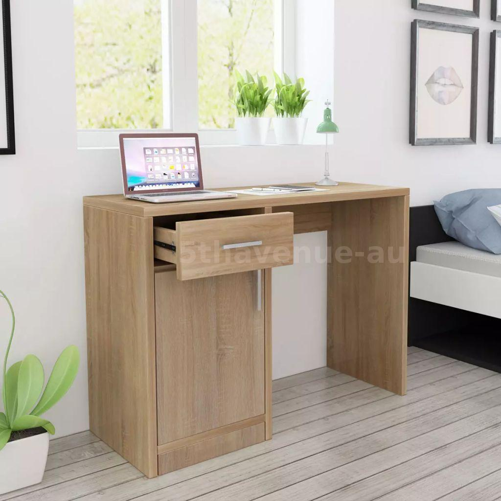 Details about Desk With Drawer And Cabinet Oak 100x40x73 cm Office Study  Kids\' Bedroom D8B3