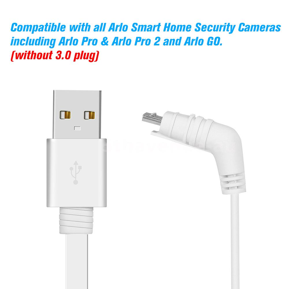 6m 20ft Usb Charging Power Cable Cord For Arlo Pro Arlo